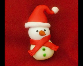 Fimo pilot baby snowman snow for child's room