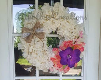 Beautiful white wreath