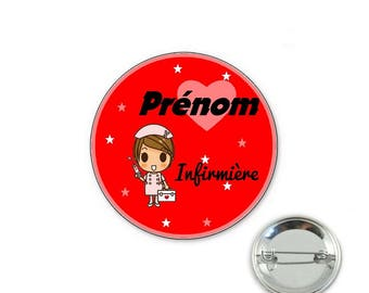 Personalized nurse badge - o32mm pin