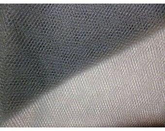 dark gray soft tulle width 150 cm
