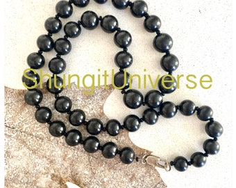 Shungite necklace for men,EMF protection, Healing stone,Shungite elite,Shungite jewelry,Healing stone necklace, gift for him