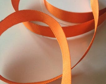 Armed orange width 15mm satin ribbon.