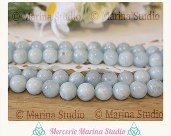 5 véritables perles aigue marine 8mm * reiki * chakras *