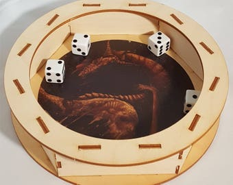 Dice Tray - Copper Dragon