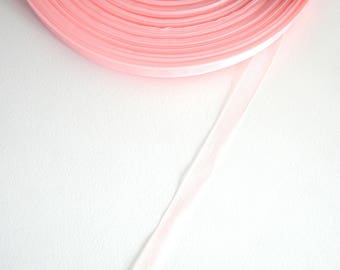 5 meters of 10 mm light old pink organza Ribbon
