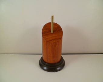 Stand for figurines busts round wooden Pan cut srpcip1