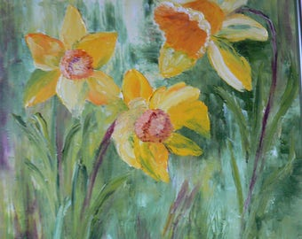 the arrival of spring with the beauty of the daffodils