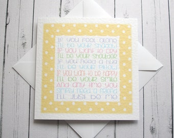 Inspirational card Positive Thinking card Best Friend Card Support card Get Well card Encouragement card Cancer card Love and support