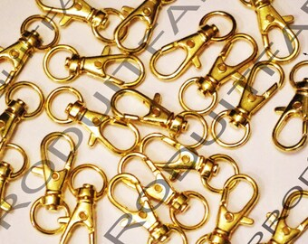 10 lobster swivel clasps + handle Crochet bag gold ring
