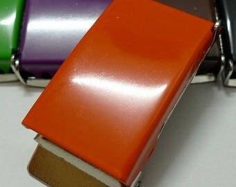 25 mm orange metal belt buckles