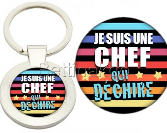 """DELUXE KEYCHAIN """"I'M A CHEF THAT ROCKS"""""""