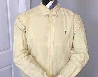 Polo Ralph Lauren-Oxford Long Sleeve Button Down-Yellow Pastel