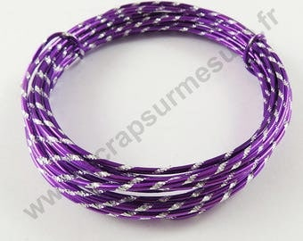 Engraved aluminum O - Purple - 2mm x 5 m