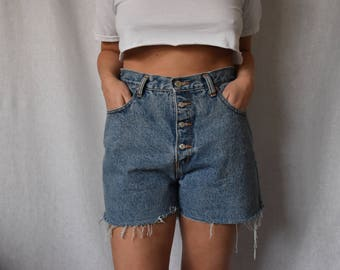 Buffalo Vintage Denim Cutoff Shorts Waist 32""