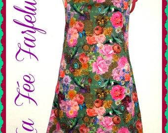 "Dress ""ESMERALDA"" flowers, romantic, from 36 to 46"