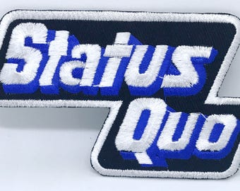 1291# Status Quo English rock band Iron/Sew On Embroidered Patch