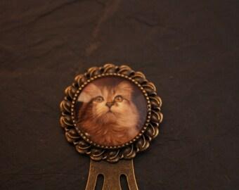 Bookmark cabochon cat