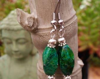 Green Chrysocolla earrings