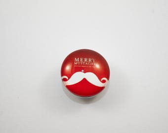 Mustache red Merry 18 mm Chunk snap button