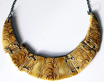 Handmade jewelry necklace 5 pieces gorgeous honey color