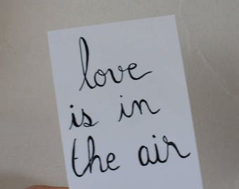 """Postcard """"love is in the air"""""""