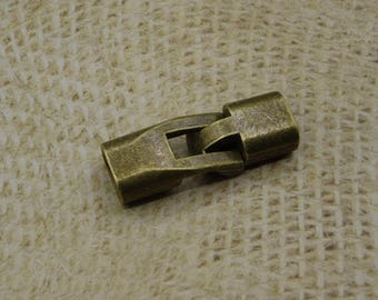 bronze 1 large toggle clasp for leather cord to stick 6mm