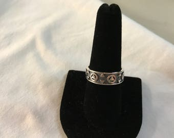 Alcoholics Anonymous sterling silver ring