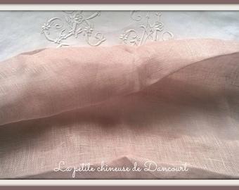 Lilac linen veil(sail) Coquecigrues by the yard
