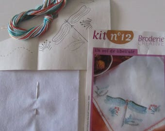Kit creative embroidery - Flying Dragonfly - complete - 20 cm x20cm