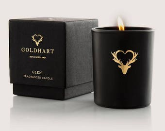 Gold Hart Glen Travel Candle