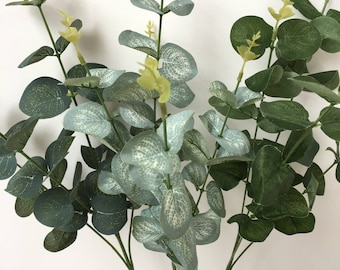Choose From Three Colours In Artificial Eucalyptus Foliage Stems Perfect For Combining With Artificial Flowers Choose From 3, 5, Or 10 Stems