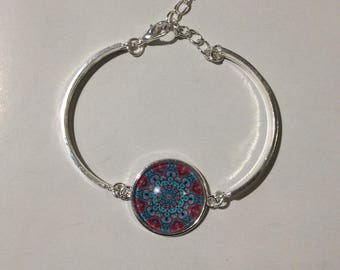 Silver tone Cabochon bracelet