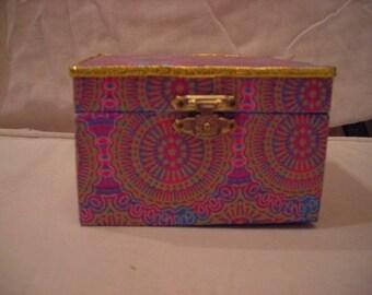 Multicolored jewelry or other treasure box