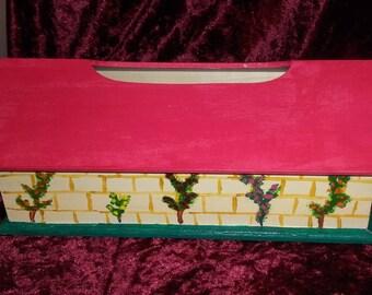 Tissue box rectangular brick house