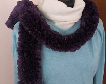 Brilliant purple scarf with Ruffles