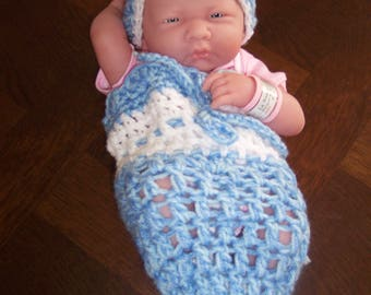 Angeline and her crochet Beanie