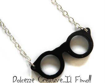 glasses Nerd - Nerdy gamer kawaii gamer gift idea necklace