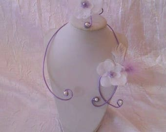 Set of wedding or bridesmaid purple coloured aluminum