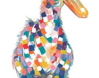 Ducky Textured Print