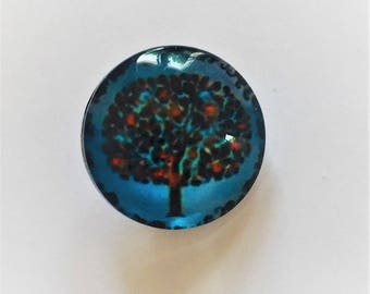 Snap 1.8 cm Blue tree of life