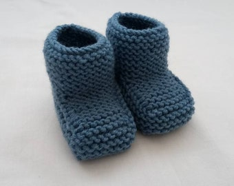 Hand knit baby booties, baby knit booties, Knitted baby shoe, baby socks knit, baby boots, baby shoes,Knitted boots,3months+,Ready to ship