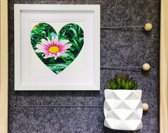 Housewarming New Home Flower heart photographic print