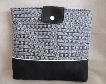 Tactile suede and fabric Tablet cover