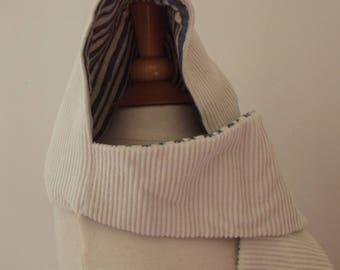 Velvet and Fleece Hooded scarf