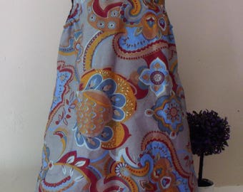 Summer dress for girls cotton patterned sleeveless