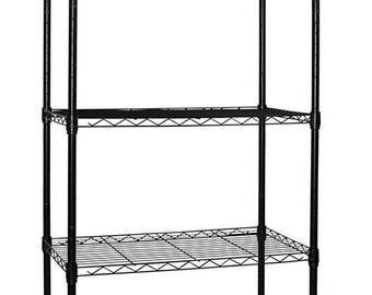 Apollo Hardware BLACK 5-Shelf Wire Shelving 14″x24″x60″ (BLACK)