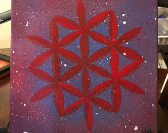 Flower of Life Red