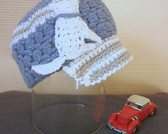 Layette: hat for baby boy 12/24 months
