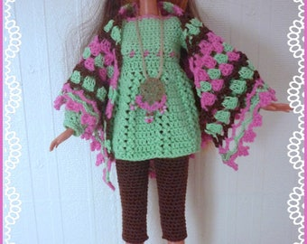 Barbie: casual, short leggings and tunic, shawl, trendy and ballerinas
