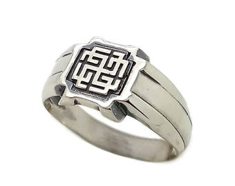 Rodimich Slavic Symbol Men Ring Silver 925 SKU30261